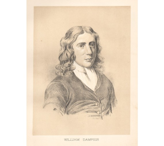 William Dampier portrait lithograph