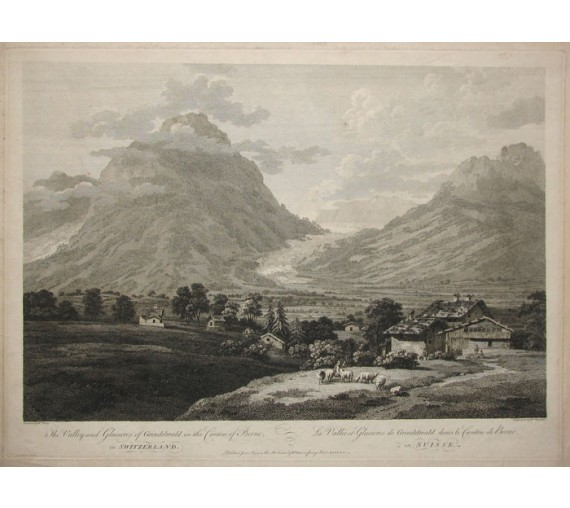 Grindelwald Switzerland William Woollett Pars engraving
