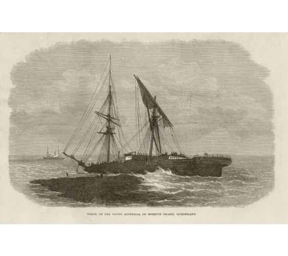 Wreck Young Australia engraving Illustrated London News