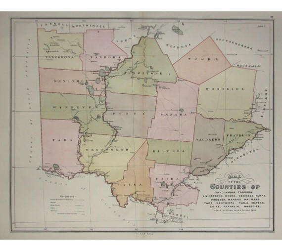 nsw county map yancowinna tandora livingstone woore