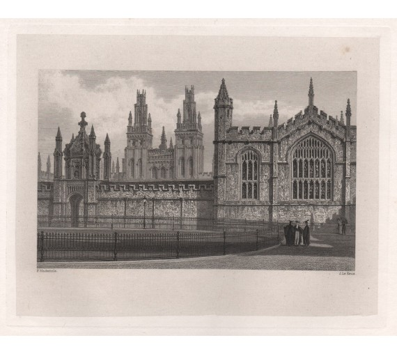 all souls college oxford university engraving
