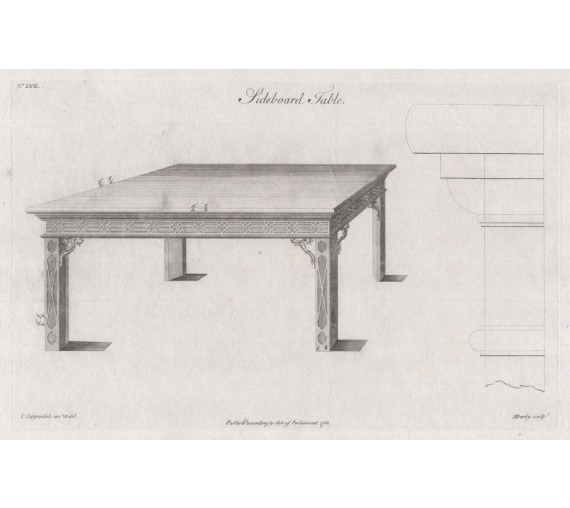 sideboard table Chippendale furniture print director
