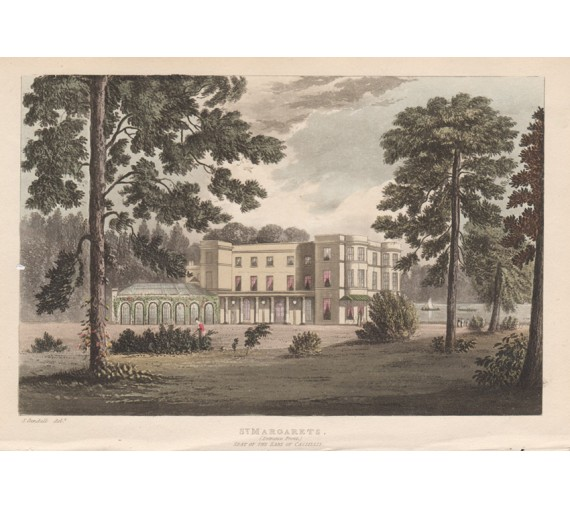 St Margarets aquatint ackermann repository isleworth antique print