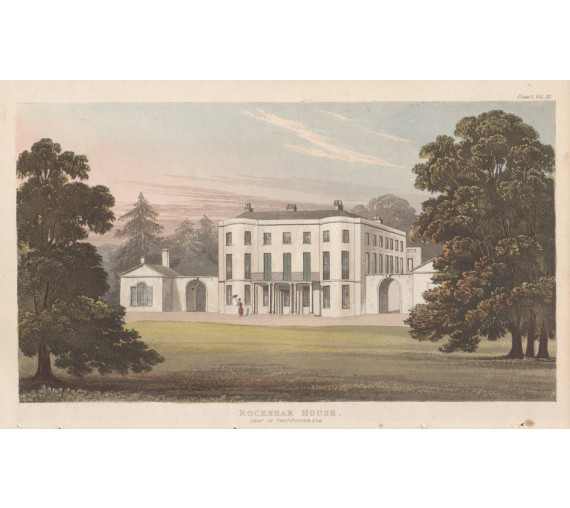 Rockbear House aquatint ackermann repository antique print exeter