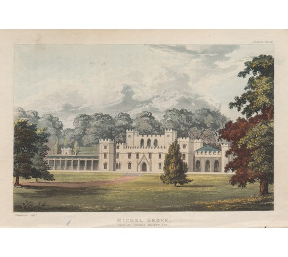 Michel Grove aquatint ackermann antique print sussex repton
