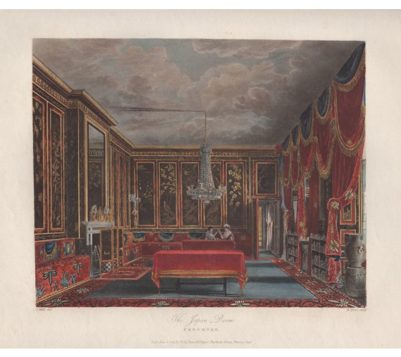 aquatint royal residences pyne Japan Room Frogmore