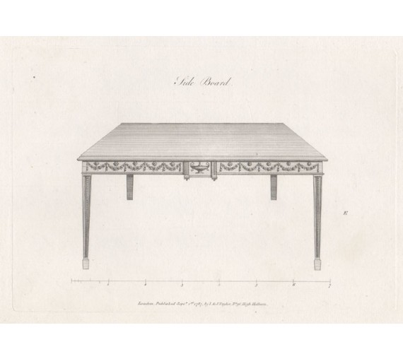 George Hepplewhite sideboard table furniture design