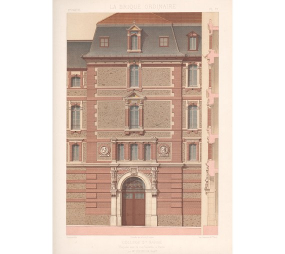 college chromolithograph brique ordinaire brick