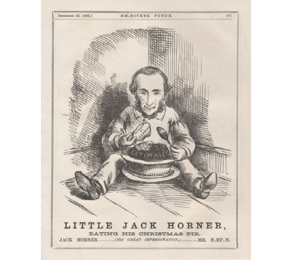 little jack horner engraving 1860 Melbourne Punch