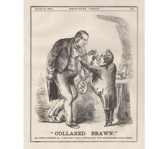 collared brawn engraving 1859 Melbourne Punch