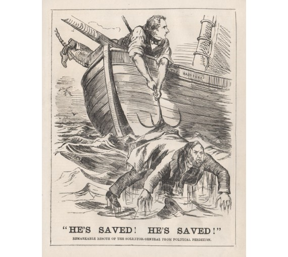 hes saved engraving 1859 Melbourne Punch