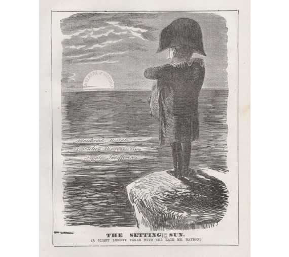 setting sun engraving 1859 Melbourne Punch
