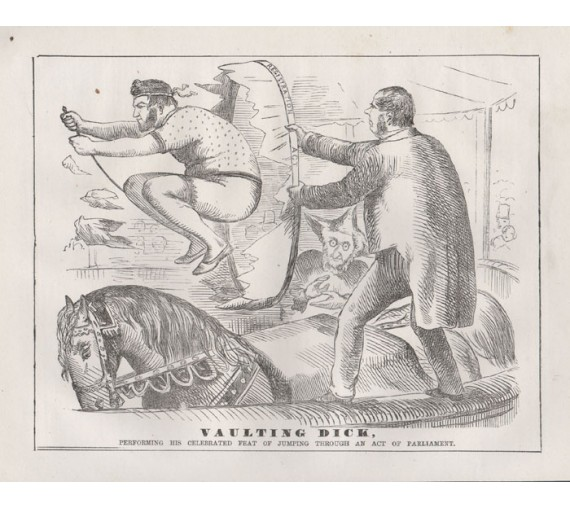 vaulting dick engraving 1859 Melbourne Punch