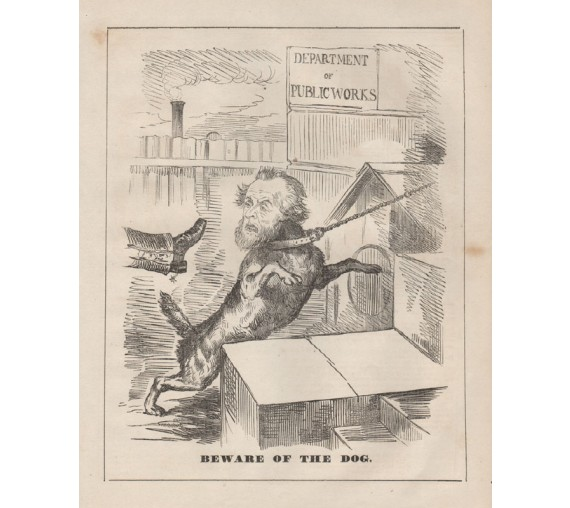 beware dog engraving 1859 Melbourne Punch