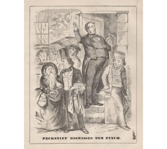 pecksniff engraving 1859 Melbourne Punch