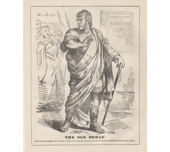 old roman engraving 1859 Melbourne Punch