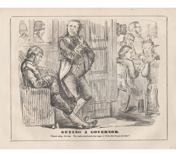 guying governor engraving 1859 Melbourne Punch