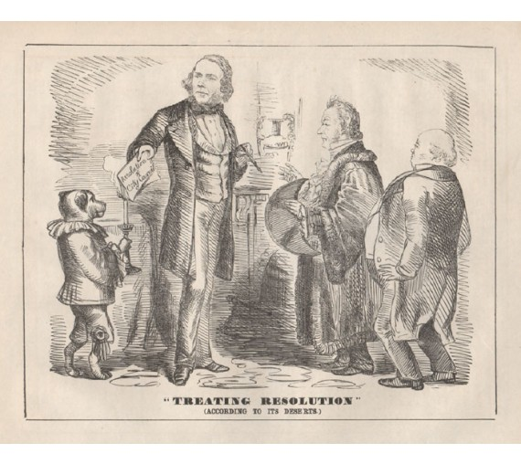 treating resolution engraving 1859 Melbourne Punch