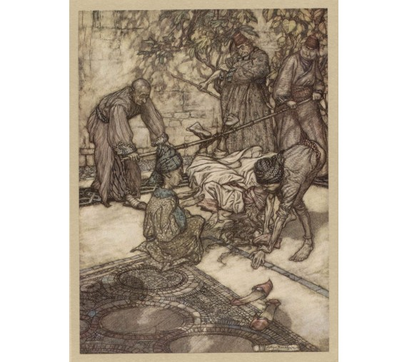 bastinado illustration Arthur Rackham