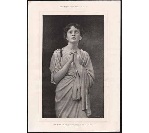 bless the lord photogravure