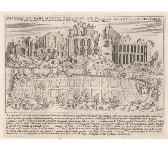 Palatine Hill Engraving Jacobo Lauro Rome
