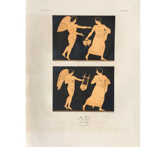 eros Greek vase painting print Gerhard