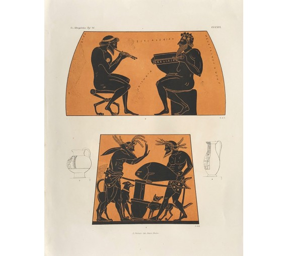 eating Greek vase painting print Gerhard