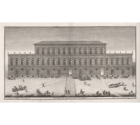 pitti palace florence engraving
