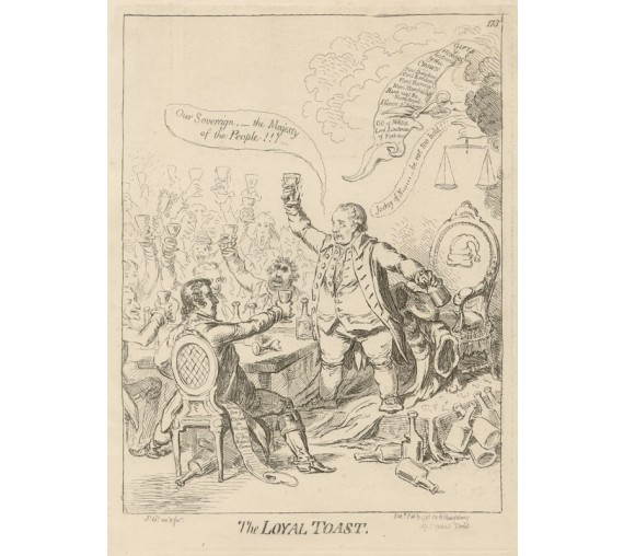 Gillray - The Loyal Toast