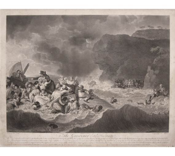 Grosvenor East Indiaman shipwreck Smirke engraving