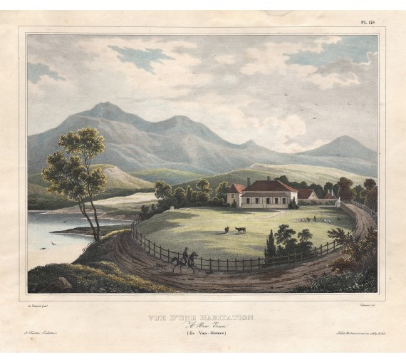 habitation new town tasmania Sainson lithograph