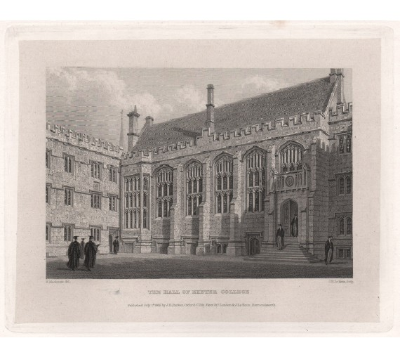 hall exeter college oxford university engraving 2