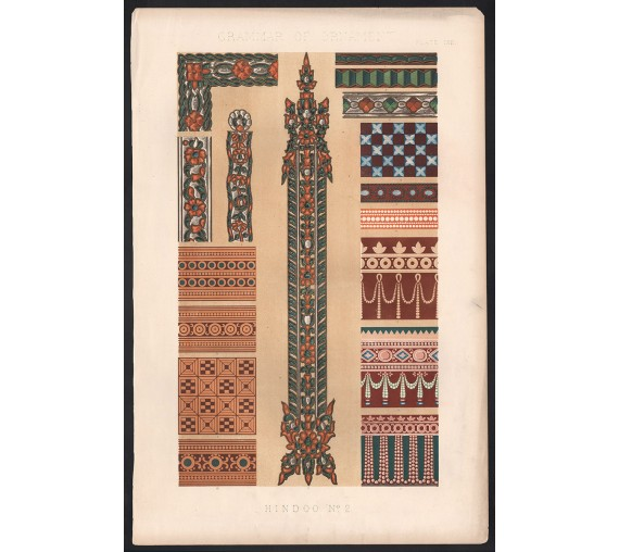 Grammar of Ornament hindoo indian owen jones chromolithograph