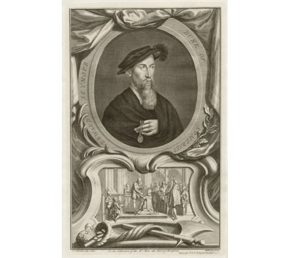 Edward Seymour Duke Somerset portrait engraving Houbraken