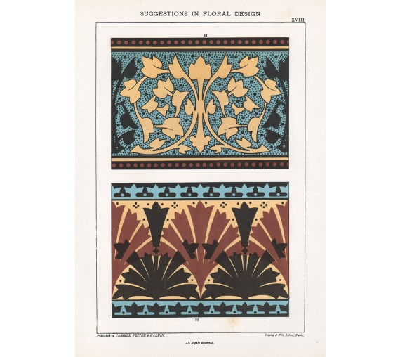 suggestions floral design hulme interior victorian chromolithograph 18