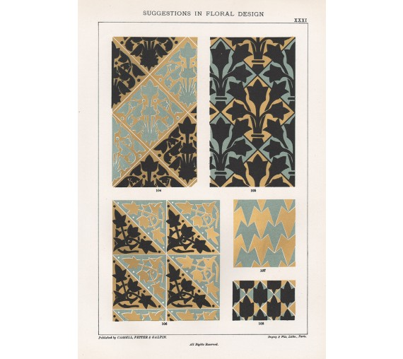 suggestions floral design hulme interior victorian chromolithograph 31
