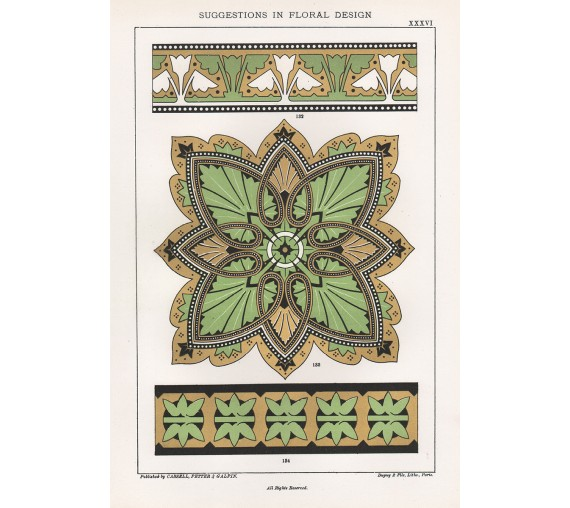 suggestions floral design hulme interior victorian chromolithograph 36