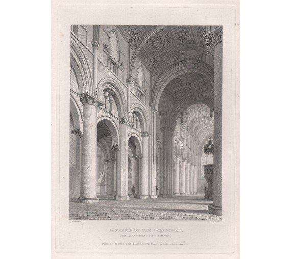 interior cathedral oxford university engraving 2