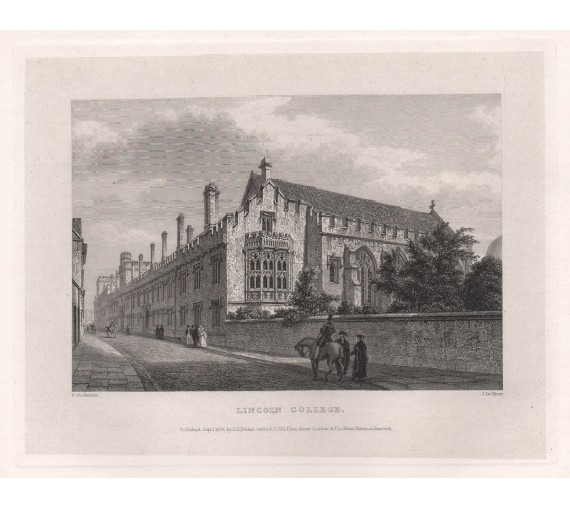 lincoln college oxford university engraving