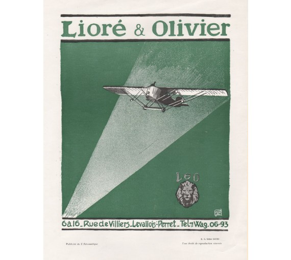 french airplane advertising liore olivier