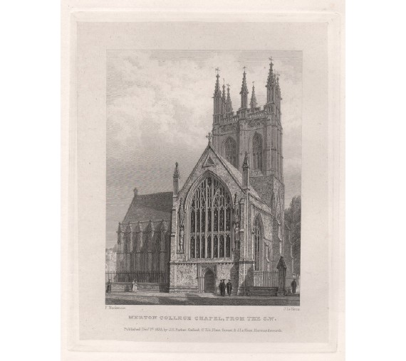 merton college south west chapel oxford engraving 2