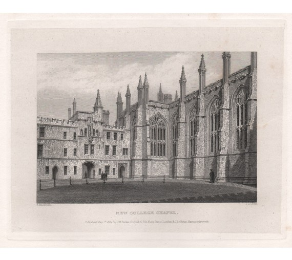 new college chapel oxford university engraving 2