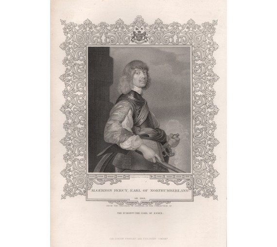Algernon Percy Earl Northumberland portrait engraving
