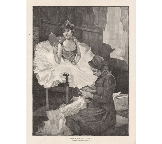 preparing pantomime engraving adolphe birkenruth