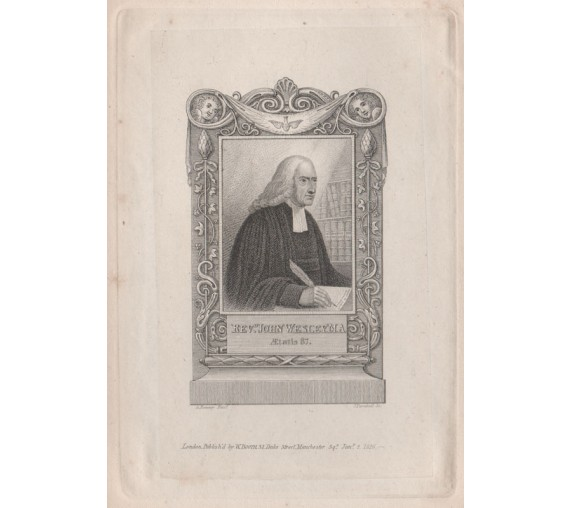 John Wesley methodist portrait engraving