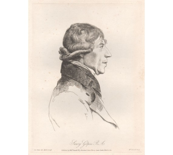 Sawry Gilpin portrait engraving Dance Daniell