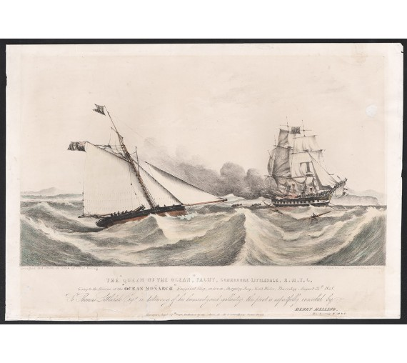 Ocean Monarch Henry Melling lithograph 1848