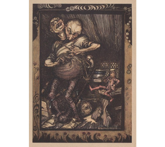 jack giant killer illustration Arthur Rackham