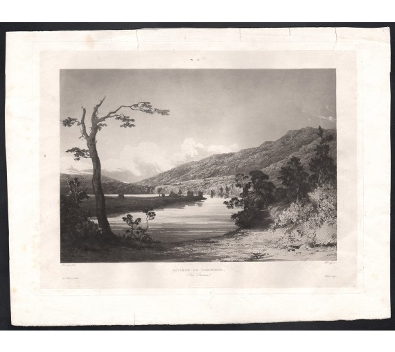 riviere de derwent aquatint river