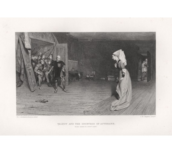 talbot countess auvergne shakespeare engraving